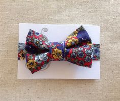 Handmade Velcro Boys Bow Tie in Vintage Floral by GraceCoHandmade, $15.00