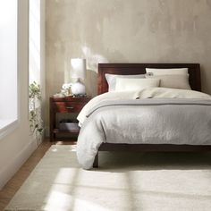Dawson Clove King Sleigh Bed   Crate and Barrel