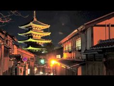 【BGM・京都夜景と花灯路〜リラックスヒーリング】 1時間 - YouTube