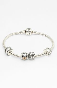 Free shipping and returns on PANDORA 'Moments' Mother's Day Bracelet Gift Set (Nordstrom Exclusive) at Nordstrom.com. The affectionately embossed and sparkling details of collectable sterling-silver charms repurpose a snake-chain bracelet into a meaningful keepsake.The gift set includes a signature PANDORA sterling-silver charm bracelet, two beveled clip charms, plus the 'Lotsa Love' and 'Mom' charms.