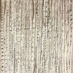 """@dosaflyingfish on Instagram: """"More of freestyle hand -stitching on muslin ribbon for mosquito net repairing project @risdmuseum @risd1877  Three women spent all day…"""" Mosquito Net, Sewing Tools, Fabric Manipulation, Pin Cushions, Hand Stitching, Ribbon, Textiles, Japanese, Create"""
