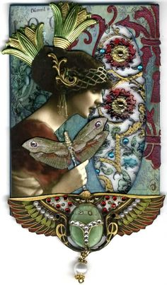 Art Nouveau Glass Art ~ by Artfully Musing  (Laura Carson)