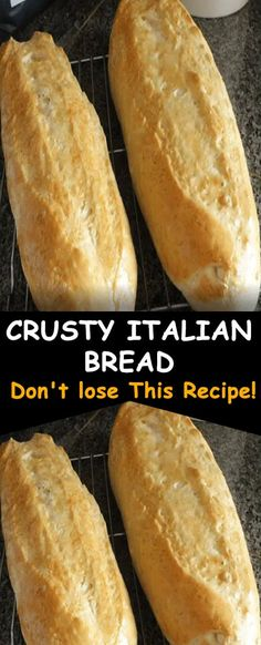 Try this crusty Italian bread recipe Italian Bread Recipes, Artisan Bread Recipes, Bread Machine Recipes, Easy Bread Recipes, Quick Bread, Cooking Recipes, Crusty Bread Recipe Quick, Best Crusty Italian Bread Recipe, Easy French Bread Recipe
