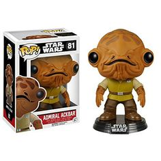 Star Wars Force Awakens POP Admiral Ackbar Bobble Head Vinyl Figure