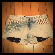 Red, White, and Blue YMI Shorts  Really cute shorts that would be great for summer! ☀️ I bought them from another posher but they were too small. I'm not sure how much they've been worn but they're in great condition with no stains! Open to all offers! YMI Shorts Jean Shorts