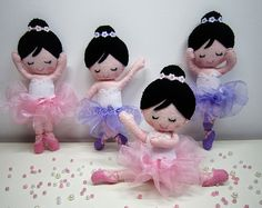 ♥♥♥ As bailarinas... by sweetfelt \ ideias em feltro, via Flickr