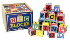 Amazon.com: Schylling Large ABC Alphabet Blocks Toy: Toys & Games
