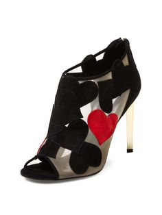 Love Heart Mesh Bootie by DVF Shoes (=)