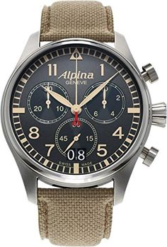 b8a618359a Alpina Startimer Pilot Big Date Chronograph Military (ref. – The Official  Alpina Web Store