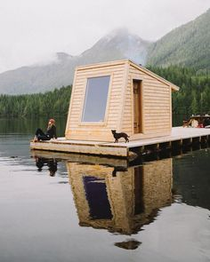 @nimmobayresort's floating sauna in the Great Bear Rainforest, British Columbia shot by @bennnnnnnngie #unconventionallyminded