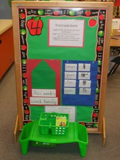 Free-standing bulletin board, great use of space! LOVE this site!!! -KC