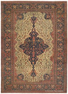 FERAHAN SAROUK - West Central Persian 8ft 8in x 12ft 3in 3rd Quarter, 19th Century