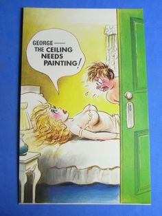 A Bamforth Comic Postcard 1970s Painter & Decorator Theme