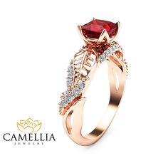 From those with single stones and plain bands to ones more complicated, our ruby red rings should have you all swooning in no time!