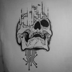 Black Ink Tattoos, Body Art Tattoos, Sleeve Tattoos, Shape Tattoo, Dot Work Tattoo, Blackwork, Circuit Tattoo, Electronic Tattoo, Object Drawing