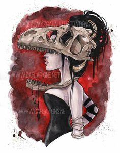 Skull  Masquerade  By Carla Wyzgala Illustrations