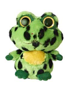 "Aurora Plush Yoo Hoo Friends Green Frog ""Jumpee"" Stuffed Animal Toy w/ Sound Ty Boos, Ty Beanie Boos, Beanie Babies, Ty Animals, Plush Animals, Ty Peluche, Realistic Stuffed Animals, Pokemon Toy, Spiderman Art"