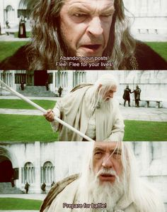 Gandalf takes mad Denethor down! OMG I love this part!! favorite part in Return of the King.