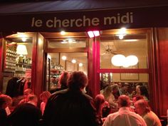 Le Cherche Midi - Paris 6th. Cute little authentic Italian resto. Great food (small selection), bustling atmosphere. LOVED the gazpacho. Reservation suggested =)