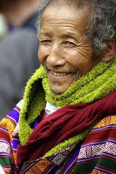 Smiling man, Paro Tsechu festival, Bhutan
