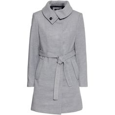H&M Figure-fit coat (£35) found on Polyvore