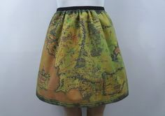Lord of the Rings inspired skirt - map of Middle Earth (version 2) - made to order on Etsy, $45.00