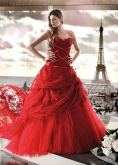 Red Wedding Gown Bridal Dresses