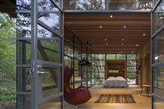 love the glass walls...