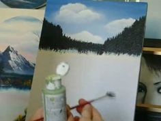 ▶ Acrylic Painting Lesson 3 How to paint Fir Trees - YouTube