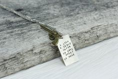 Johnny Cash Pendant Necklace/Keychain/Earrings with pistol, Hand stamped, Custom/Personalized