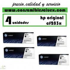 TONER HP ORIGINAL CF283X PACK DE CUATRO UNIDADES http://www.consumiblesciuex.com/hp-cf283x-/1856-toner-hp-original-cf283x-pack-de-cuatro-unidades.html