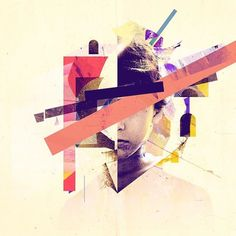 By @giulio_mencaroni  #cover #design n.2 #abstract #boy #lines #color #graphic #vectors #collage