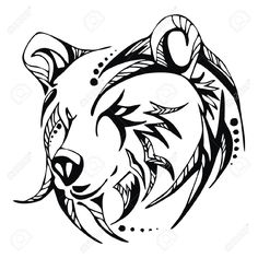 Images For > Grizzly Bear Head Outline
