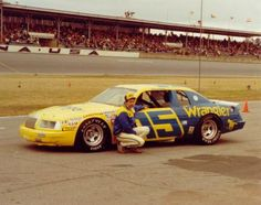 Dale Earnhardt drove the Bud Moore owned, Wrangler Jeans Ford Thunderbird for a half season in 1983