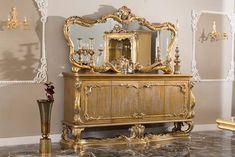 Luxury Home Furniture, Italian Furniture, Showcase Cabinet, Gold Dresser, Traditional Mirrors, Minimalist Home Interior, Room Planning, Kitchen Sets, Living Room Interior