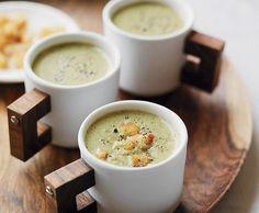 Receita de sopa de espinafre e batata doce