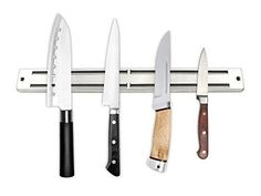 ONME 13.5 Inch Magnetic Knife Bar Magnetic Knife Storage Strip Magnetic Kitchen Knife Tool Holder Knife Rack Strip