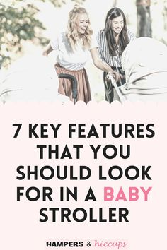 Here are 7 features to look for when choosing a baby stroller for your young children. We simplify down the best features to look for so you can buy the safest and most efficient stroller. Mom Hacks, Baby Hacks, Best Baby Registry, Gentle Sleep Training, Baby Whisperer, Minimalist Baby, Preparing For Baby, Pregnant Mom, Hampers