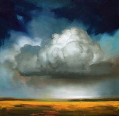I saw this painting, and in my mind I was back in the desert where I grew up, watching the storm clouds move in, feeling the wind pick up, smelling the sage in the rain. I want it, so much.