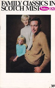 Patons Knitting Pattern No 826 for Family in by jennylouvintage