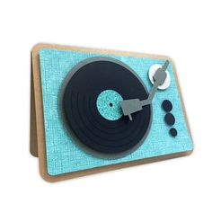 Silhouette Design Store: record player card
