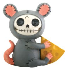Meunster Mouse Furry Bones Skellies Figurine [7803S] - $7.99 : Mystic Crypt, the most unique, hard to find items at ghoulishly great prices!