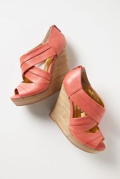 Anthropologie - Unwrapped Wedges from Anthropologie. Saved to Epic Wishlist. Shop more products from Anthropologie on Wanelo. Crazy Shoes, Me Too Shoes, Mode Shoes, Bridesmaid Shoes, It Goes On, Shoe Closet, Pumps, Heels, Shoe Sale