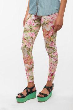 Printed Leggings #urbanoutfitters #BDG #floral