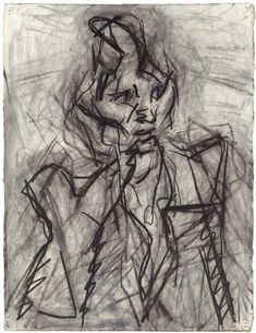 A special exhibition of early paintings and drawings on loan from private collections. Frank Auerbach, Charcoal Artists, Observational Drawing, Neo Expressionism, Francis Bacon, Virtual Art, Lucian Freud, A Level Art, Drawing Techniques