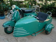 Vespa with sidecar