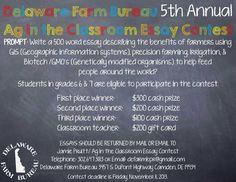 Delaware Farm Bureau 5th Annual Ag in the Classroom Essay Contest