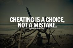 """Cheating is inexcusable. It didn't """"just happen"""" They will do it again. Oh, and if they cheated WITH you, they will cheat ON you. Grow up."""