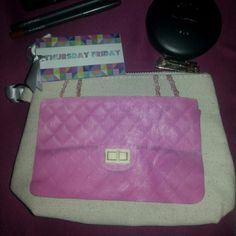 Fabulous Thursday Friday Make up bag Need a little Chanel in your life? Well you can have the Pink Chanel Thursday Friday make up bag to put all your little special things in. Thursday Friday Bags