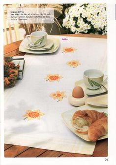 Gallery.ru / Фото #162 - 2 - irisha-ira Cross Stitch Needles, Cross Stitch Patterns, Easter Tablecloth, Rico Design, Cross Stitch Flowers, Needlework, Table Settings, Plates, Tableware
